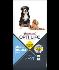 Συσκευασία του Opti Life Adult Light Medium & Maxi των 12.5kg. Κωδικός προϊόντος: 431136