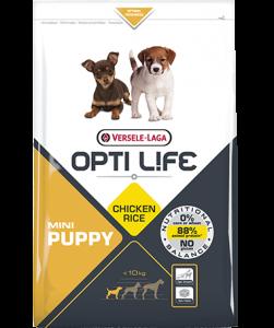 Συσκευασία του Opti Life Puppy Mini των 2.5kg. Κωδικός προϊόντος: 431156 Διατίθεται επίσης και στην συσκευασία των 7.5kg με κωδικό προιόντος: 431157